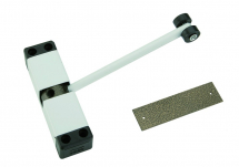 Door Closer White Sprung Arm Architrave Fix