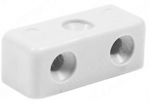 Modesty Screw Block White