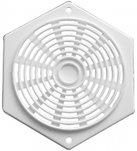 Vent Hexagon White 2.3/4inch