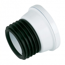 SP101 White 110mm Kwickfit Straight Pan Connector