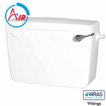 White Low Level Lever Plastic Cistern SIIO