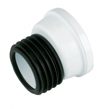SP102 White Kwickfit Offset Pan Connector 110mm