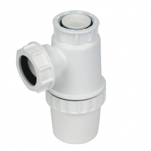 TB47 White 40mm x 75mm Seal Waste Bottle Trap