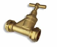 15mm Stop Tap Brass Compression Ended