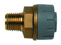 15mm x 1/2inch BSPT Brass Male Coupler Polyplumb