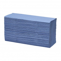 Paper Hand Towel 1 Ply Z Fold Blue Re-Cycled (15Pks x 200)