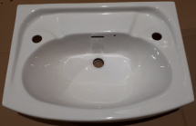 560mm 2 taphole Washbasin White Contract - Atlas