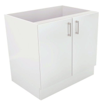 1000 x 600 Gable Ended Base Unit 2 Door White