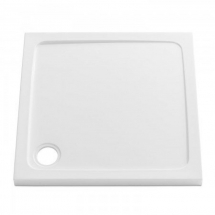 760 x 760 Square Shower Tray 35mm Deep c/w 90mm Waste