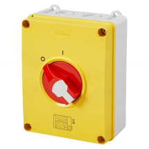 Rotary Control Switch Red 63A, 4 Pole, IP65