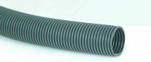 Grey Convoluted Polyprop Hose 28.5mm id, 25Mtr Coils