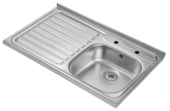 1000 x 600 Stainless Steel Sink Roll Front