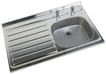1000 x 600 Square Front Stainless Steel Sink
